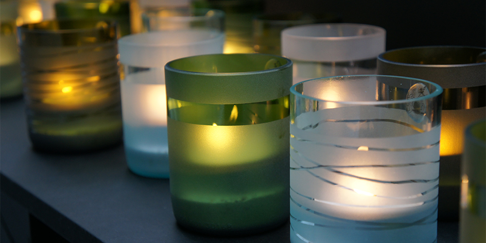 Ffrash at DDW 2013 | Winebottle Candles