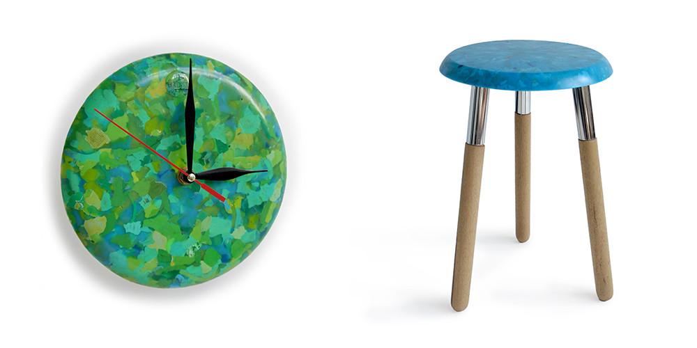Bottlecap Clock & Stool