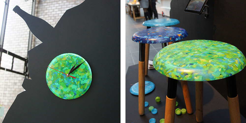 Ffrash at DDW 2013 | Bottlecap Clock & Stool