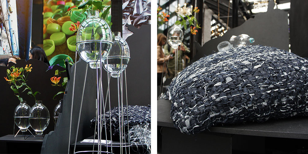 Ffrash at DDW 2013 | Harbourlamp Vase & Jeans Pillow