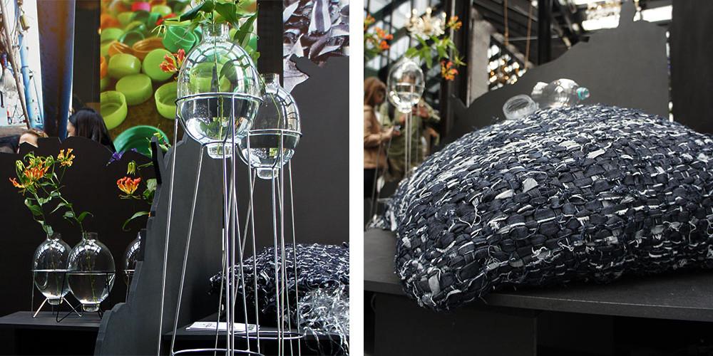 Ffrash at DDW 2013 | Harbourlamp Vase & Jeans Pillow