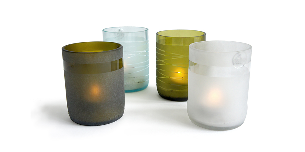 Winebottle Candles