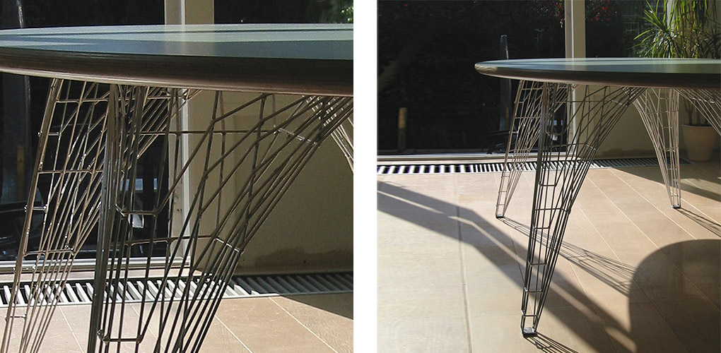 Wire-frame table